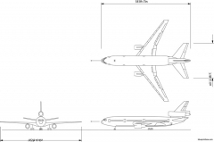 boeing dc10 30a model airplane plan