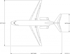 boeing dc9 21 model airplane plan