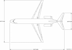 boeing dc9 32 model airplane plan