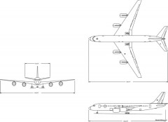 boeing dc 8 43 model airplane plan