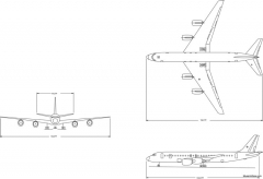 boeing dc 8 55 model airplane plan