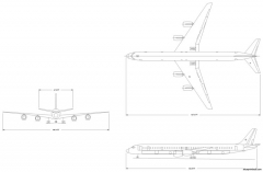 boeing dc 8 73 model airplane plan