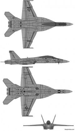 boeing ea 18g growler model airplane plan