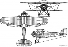 boeing f2b  model 69 1926 usa model airplane plan