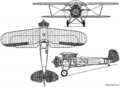 boeing f3b  model 77 1928 usa model airplane plan