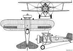 boeing f4b  p 12 1929 usa model airplane plan