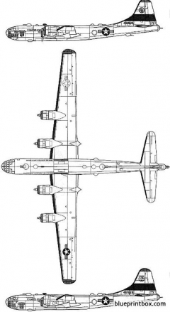 boeing f 13a superfortress model airplane plan