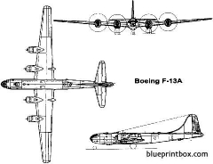 boeing f 13a superfortress 2 model airplane plan