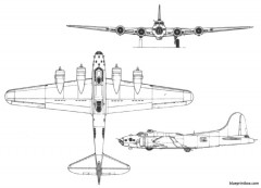 boeing fortress model airplane plan