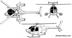 boeing hughes md 500 defender model airplane plan