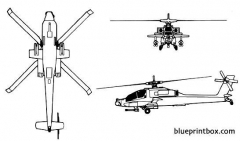 boeing mcdonnel douglas ah 64 apache model airplane plan