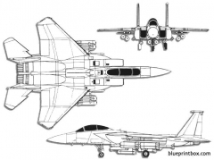 boeing mcdonnell douglas f 15e strike eagle model airplane plan