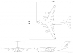 boeing md17 model airplane plan