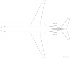 boeing md87 model airplane plan