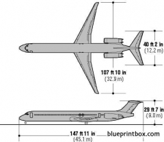 boeing md 80 model airplane plan