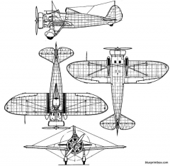 boeing p 26 peashooter model airplane plan