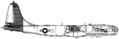 boeing rb 50f superfortress model airplane plan