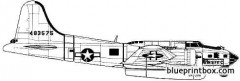 boeing sb 17 flying fortress air rescue model airplane plan