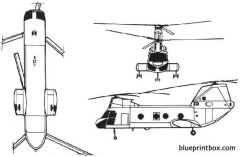 boeing vertol ch 46 sea knight model airplane plan