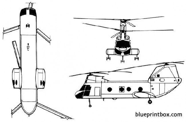 boeing vertol ch 46 sea knight 02 model airplane plan