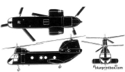 boeing vertol ch 46 sea knight 2 model airplane plan