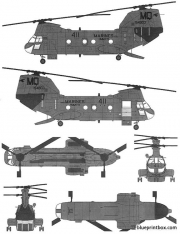 boeing vertol ch 46f seaknight model airplane plan