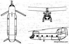 boeing vertol ch 47 chinook model airplane plan