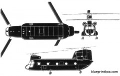 boeing vertol ch 47 chinook 2 model airplane plan