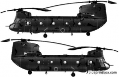 boeing vertol ch 47j chinook 2 model airplane plan