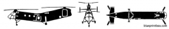 boeing vertol h 21 shawnee model airplane plan