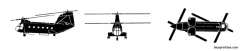 boeing vertol hc 1 chinook model airplane plan