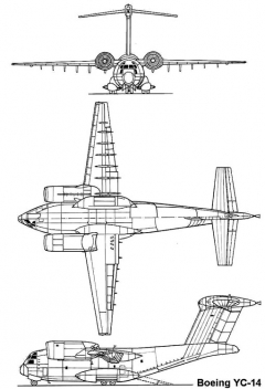 boeing yc14 3v model airplane plan