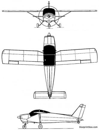 bolkow bo 208 junior model airplane plan