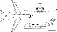 bombardier bd 100 challenger 300 2001 canada model airplane plan