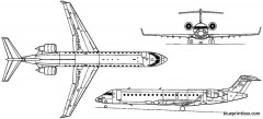 bombardier crj 700 1999 canada model airplane plan