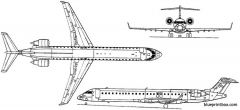 bombardier crj 900 2001 canada model airplane plan