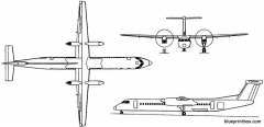 bombardier dash 8 q400 1998 canada model airplane plan