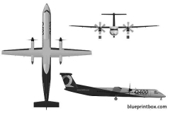 bombardier dash q400 model airplane plan