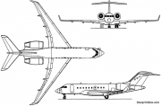 bombardier global 5000 2003 canada model airplane plan