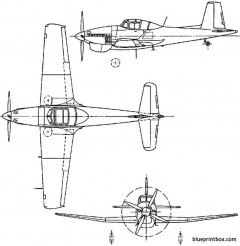 boulton paul p108 balliol 1947 england model airplane plan