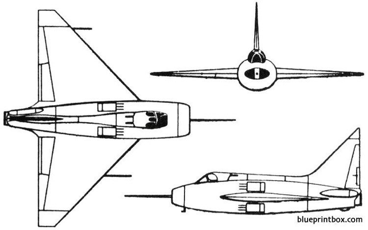 boulton paul p111 1950 england model airplane plan