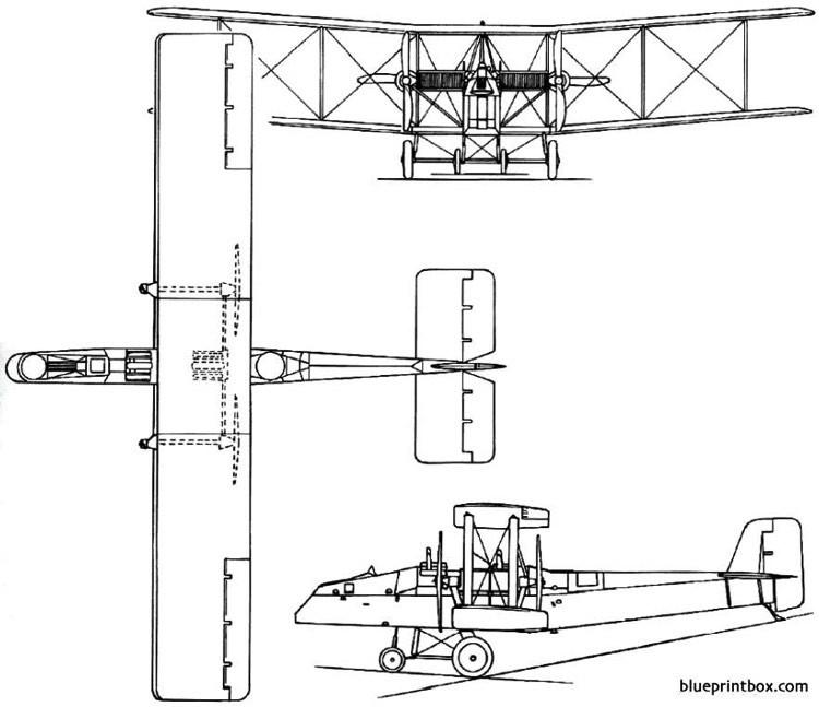 boulton paul p12 bodmin 1924 england model airplane plan