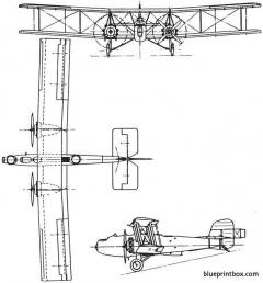 boulton paul p29 sidestrand 1926 england model airplane plan