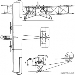 boulton paul p8 atlantic 1919 england model airplane plan