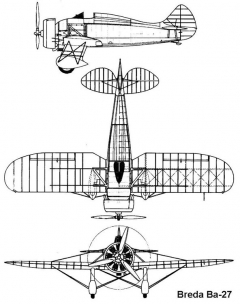 breda27 3v model airplane plan