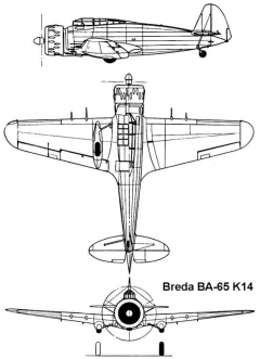 breda65 3v model airplane plan