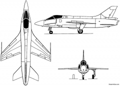 breguet 1001 taon 1957 france model airplane plan