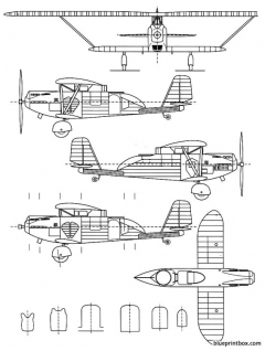 breguet br 27 model airplane plan