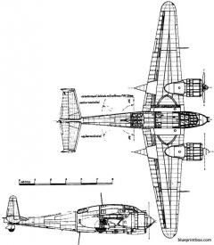 breguet br 695 model airplane plan