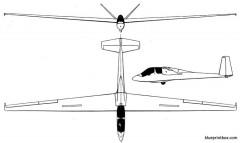 breguet br 906 choucas model airplane plan